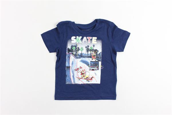t-shirt mezza manica tinta unita con stampa MAYORAL | T-shirts | 102888BLU