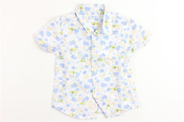 camicia mezza manica stampa fantasia MAYORAL | Camicie | 1126BIANCO