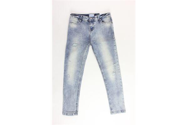 jeans 5 tasche tinta unita girovita regolabile MAYORAL | Jeans | 7500AZZURRO