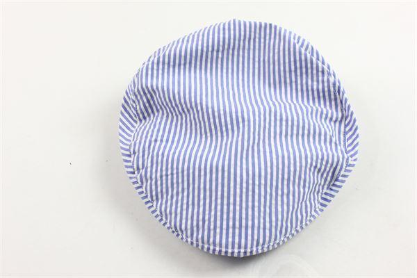 cappello modello coppola rigata MIMISOL | Cappelli | 19EMA105ST5101BIANCO
