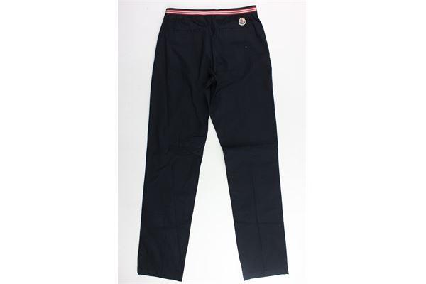 pantalone tinta unita tasca aamerica MONCLER | Pantaloni | C195411015905499CBLU