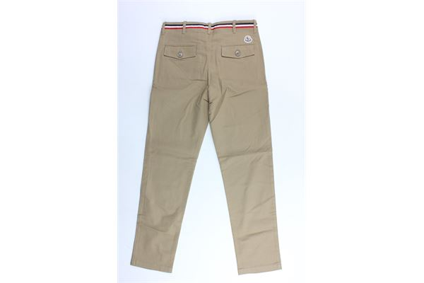 pantalone tinta unita tasca aamerica MONCLER | Pantaloni | D95411026905499BMARRONE