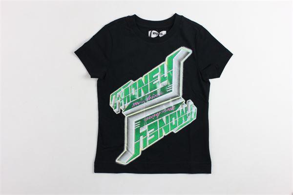 t-shirt mezza manica tinta unita con stampa MOSCHINO   T-shirts   HPM012NERO