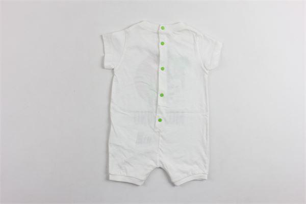 tutina mezza manica in cotone con stampa MOSCHINO   Tutine   MUX01PBIANCO