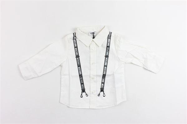 camicia manica lunga tinta unita con stampa MOSCHINO   Camicie   MYC00FBIANCO