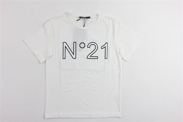 t-shirt mezza manica stampa n21 N°21 | T-shirts | 07XY7025448BIANCO