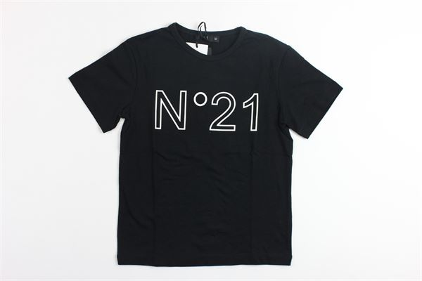 t-shirt mezza manica stampa n21 N°21 | T-shirts | 07XY7025448NERO