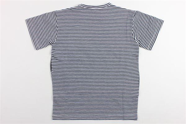 t-shirt mezza manica rigata con stampa modello over size N°21 | T-shirts | 08XY7015622BIANCO