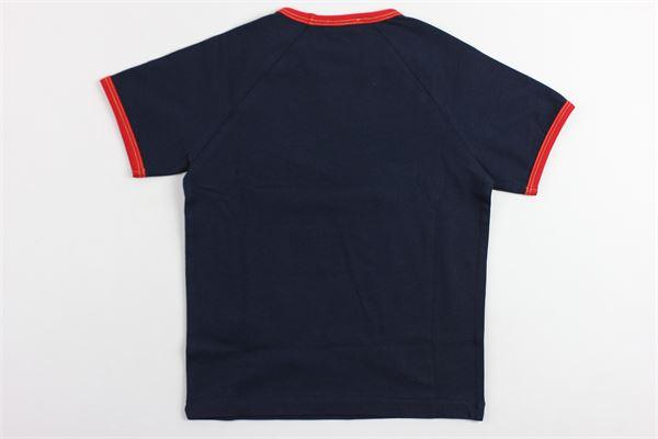 t-shirt mezza manica tinta unita con stampa N°21 | T-shirts | 08XY703544BLU