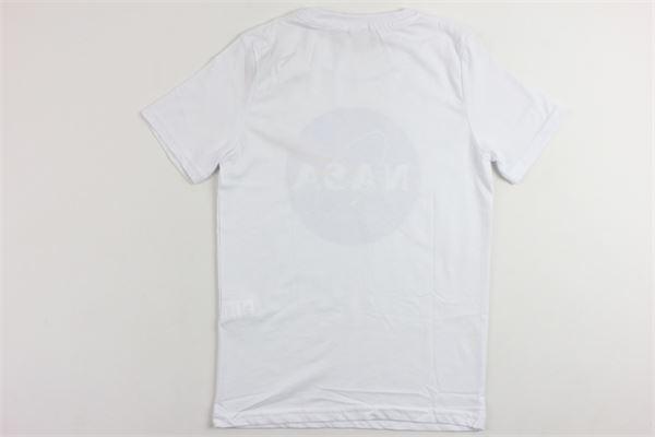 t-shirt mezza manica tinta unita con stampa NASA | T-shirts | NS107BBIANCO