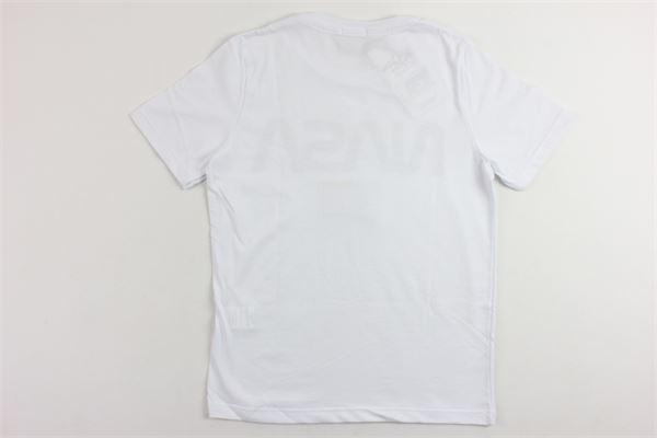 t-shirt mezza manica tinta unita con stampa NASA | T-shirts | NS108BBIANCO