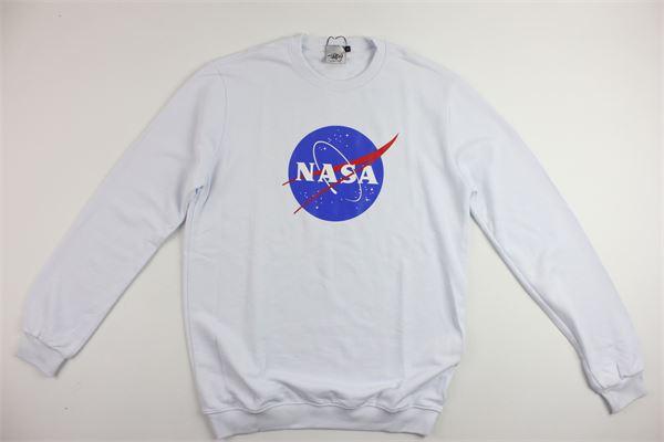 felpa girocollo con stampa nasa NASA | Felpe | NS506UBIANCO