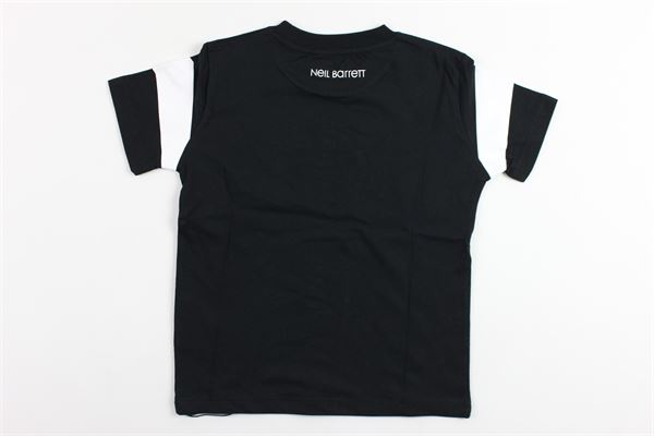 t-shirt mezza manica tinta unita con stampa NEIL BARRETT | T-shirts | 018629NERO