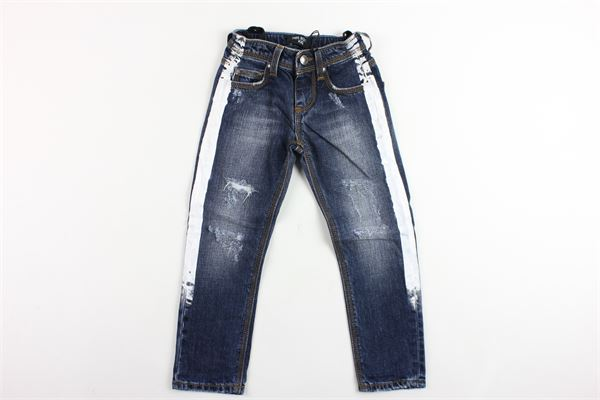 jeans 5 tasche tinta unita con profili in contrasto NEIL BARRETT | Jeans | 018663BLU