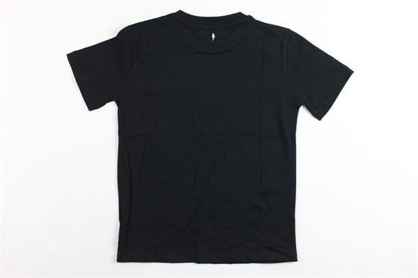 t-shirt mezza manica tinta unita con stampa NEIL BARRETT | T-shirts | 018752NERO