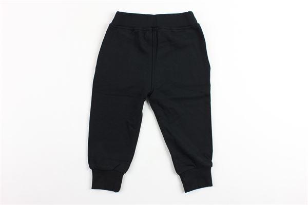 pantalone tinta unita in felpa con stampa NEIL BARRETT | Pantaloni | 018849NERO