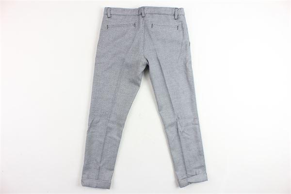 pantalone tasca america tinta unita microfantasia NEILL KATTER | Pantaloni | 12139BIANCO