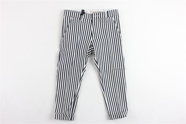 pantalone rigato tasca america girovita regolabile NEILL KATTER | Pantaloni | 124577BIANCO