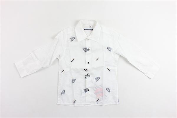 camicia manica lunga microfantasia maniche con trafori NEILL KATTER | Camicie | 53148BIANCO