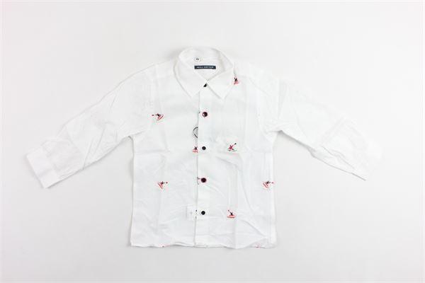 camicia manica lunga microfantasia maniche con trafori NEILL KATTER | Camicie | 53148BIANCOX