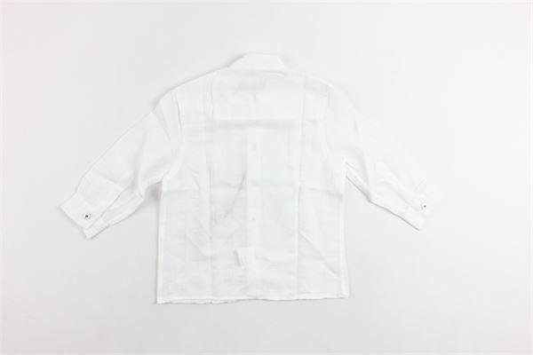 camicia manica lunga tinta unita collo coreano NEILL KATTER | Camicie | 533880BIANCO