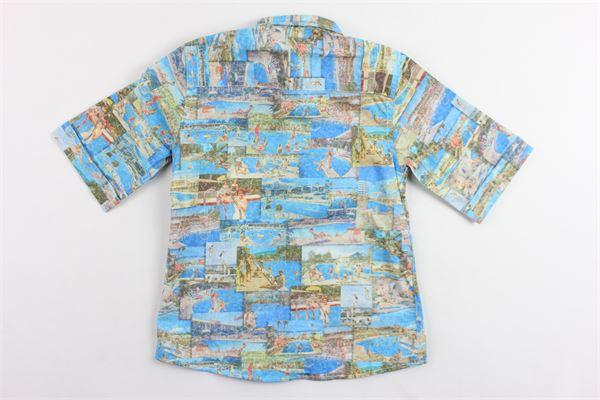 camicia mezza manica stampa fantasia NEILL KATTER | Camicie | 54455CELESTE