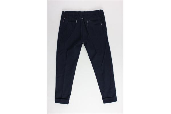 pantalone tinta unita tasca america girovita regolabile NEILL KATTER | Pantaloni | GF11083BLU