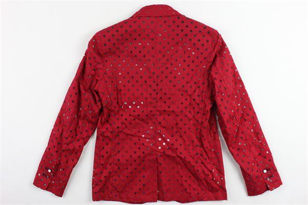 giacca tinta unita con trafori NEILL KATTER | Giacche | TAMPE18BABYROSSO