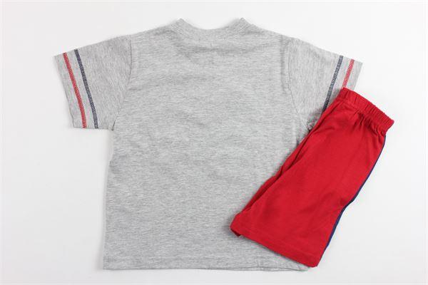 completo pigiama t-shirt mezza anica più bermuda NINETTA | Completi | E1JPSST02GRIGIO