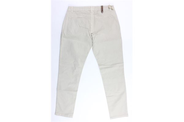 pantalone tinta unita tasca america in cotone NUMBERS | Pantaloni | 001/CBEIGE
