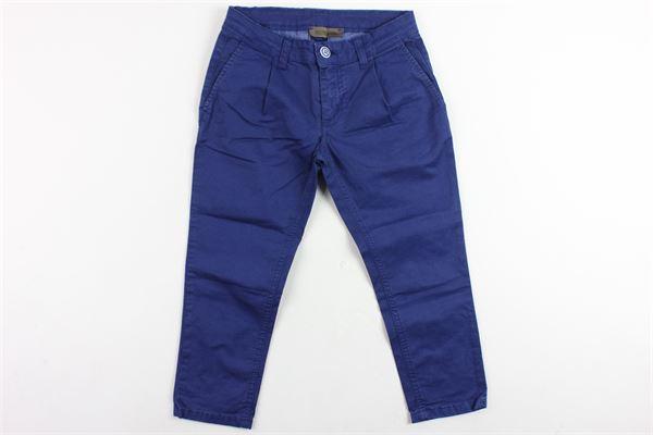 pantalone tinta unita tasca america in cotone NUMBERS | Pantaloni | 001/CBLU