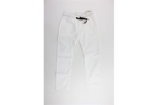 pantalone in cotone tasca america elastico in vita NUMBERS | Pantaloni | 171201BIANCO