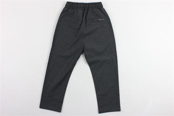 pantalone tinta unita elastico in vita NUMBERS | Pantaloni | 19007GRIGIO