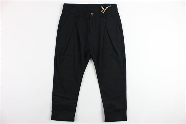 pantalone tinta unita tasca america girovita regolabile NUMBERS | Pantaloni | B1945NERO