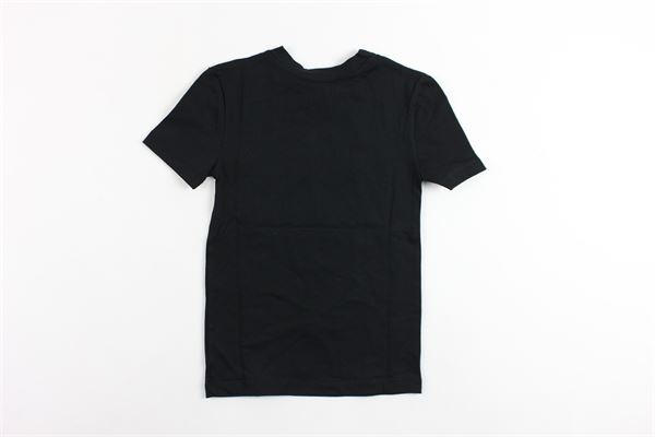 t-shirt mezza manica tinta unita con taschino rigato NUMBERS | T-shirts | TH05NERO