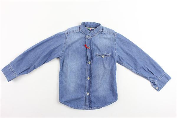 camicia manica lunga in denim collo coreano NUPKEET | Camicie | ARCOBLU