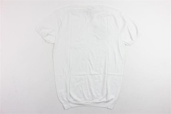 maglia in filo mezza manica tinta unita PAOLO PECORA | Maglie | PP1143BIANCO