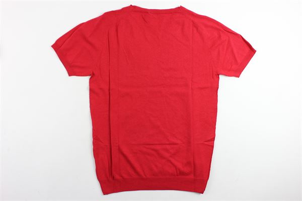 maglia in filo mezza manica PAOLO PECORA | Maglie | PP1149ROSSO