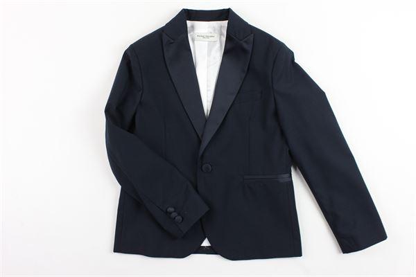 giacca tinta unita foderata con profili in raso PAOLO PECORA | Giacche | PP1186BLU