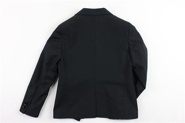 giacca tinta unita foderata con profili in raso PAOLO PECORA | Giacche | PP1186NERO