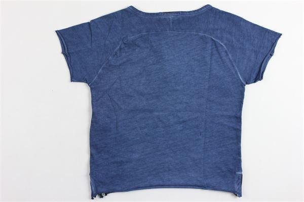 t-shirt mezza manica tinta unita PAOLO PECORA | T-shirts | PP1217BLU