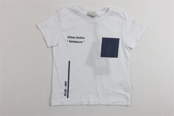 t-shirt mezza manica tinta unita con stampa PAOLO PECORA | T-shirts | PP1245BIANCO
