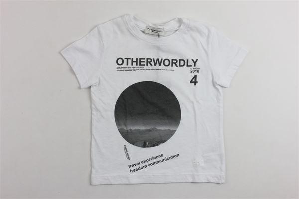 t-shirt mezza manica tinta unita con stampa PAOLO PECORA | T-shirts | PP1248BIANCO