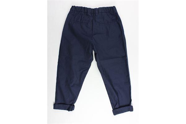 pantalone con elastico in vita tasca america PAOLO PECORA | Pantaloni | PP1268BLU
