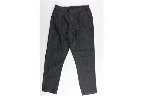 pantalone tasca america con elastico in vita PAOLO PECORA | Pantaloni | PP1277NERO