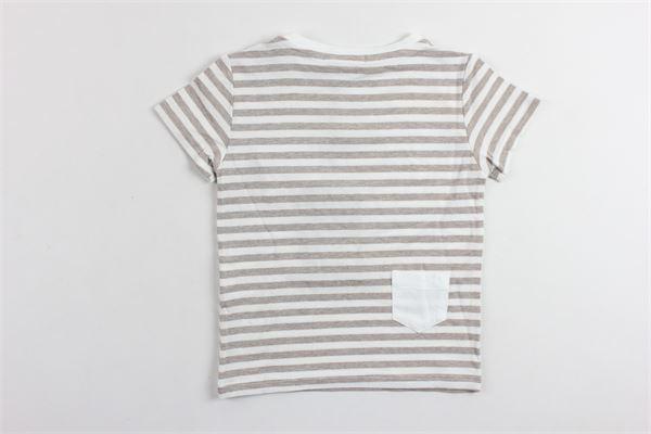 t-shirt mezza manica tinta unita rigata PAOLO PECORA | T-shirts | PP1327BIANCO