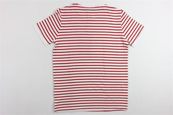 t-shirt mezza manica in cotone rigata PAOLO PECORA | T-shirts | PP1328ROSSO