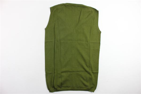maglia aperta smanicata PAOLO PECORA | Maglie | PP1392VERDE