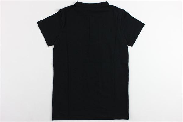 t-shirt mezza manica tinta unita  collo coreano modello serafino PAOLO PECORA | T-shirts | PP1704NERO