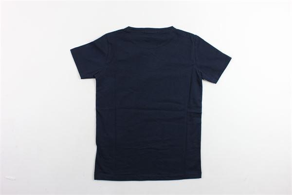 t-shirts mezza manica tinta unita con stampa PAOLO PECORA | T-shirts | PP1742BLU